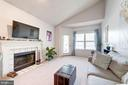 Lvg Rm - Wood Burning Fireplace is Lovely Focal Pt - 4404 HELMSFORD LN #203, FAIRFAX