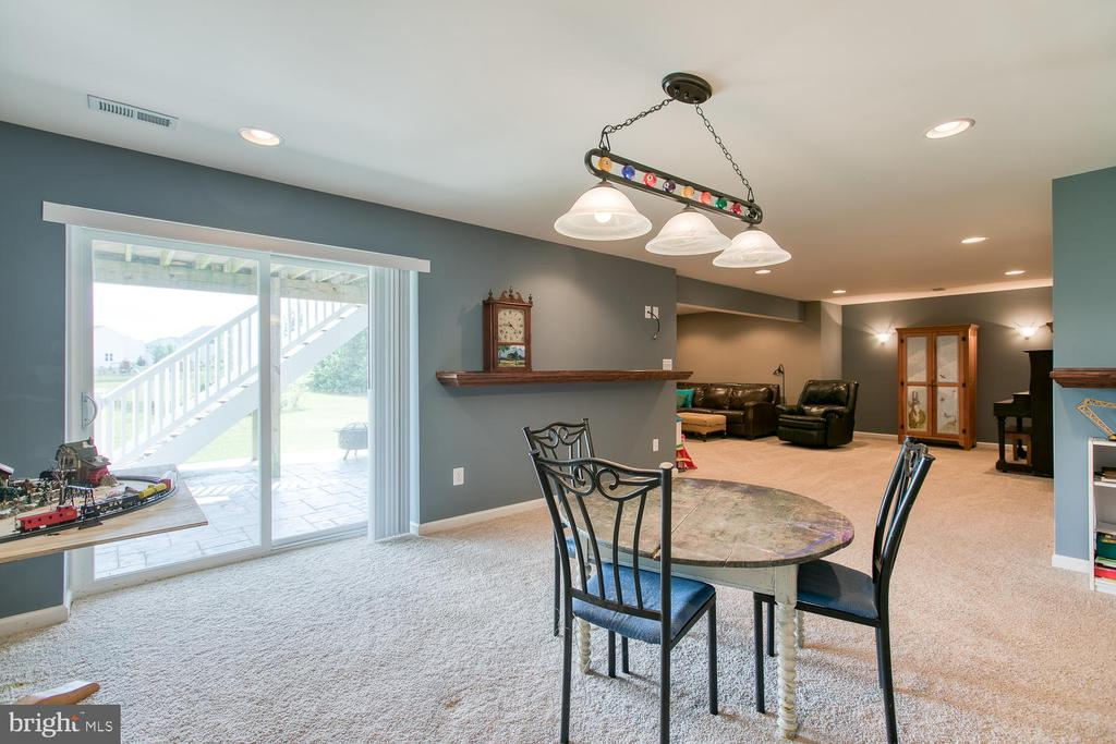 Finished basement ready for that pool table! - 16 WILDWOOD PL, FREDERICKSBURG