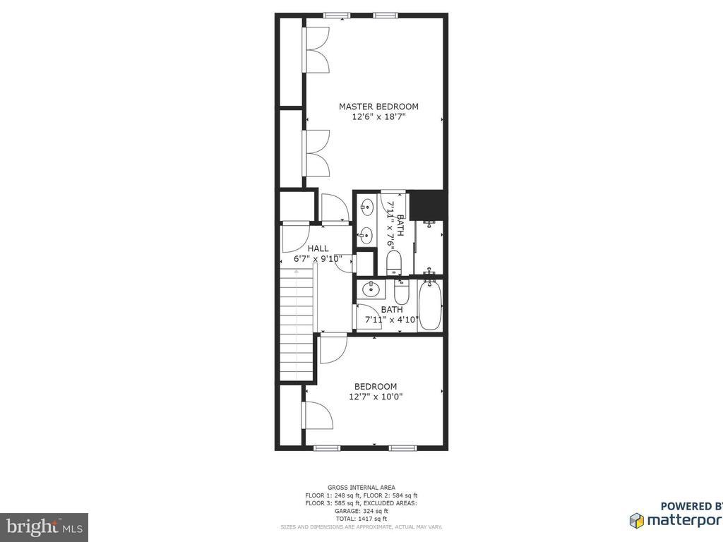 FLOOR PLAN UPPER LEVEL - 3433 10TH PL SE, WASHINGTON