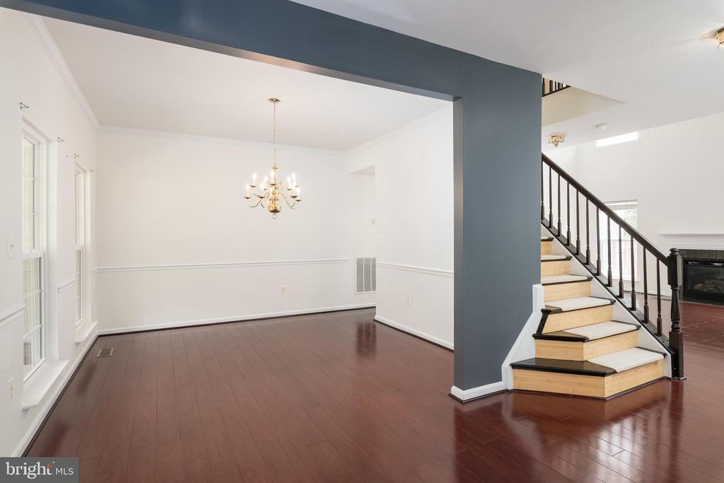 View to the Formal Dining Room - 10905 HOWITZER DR, FREDERICKSBURG