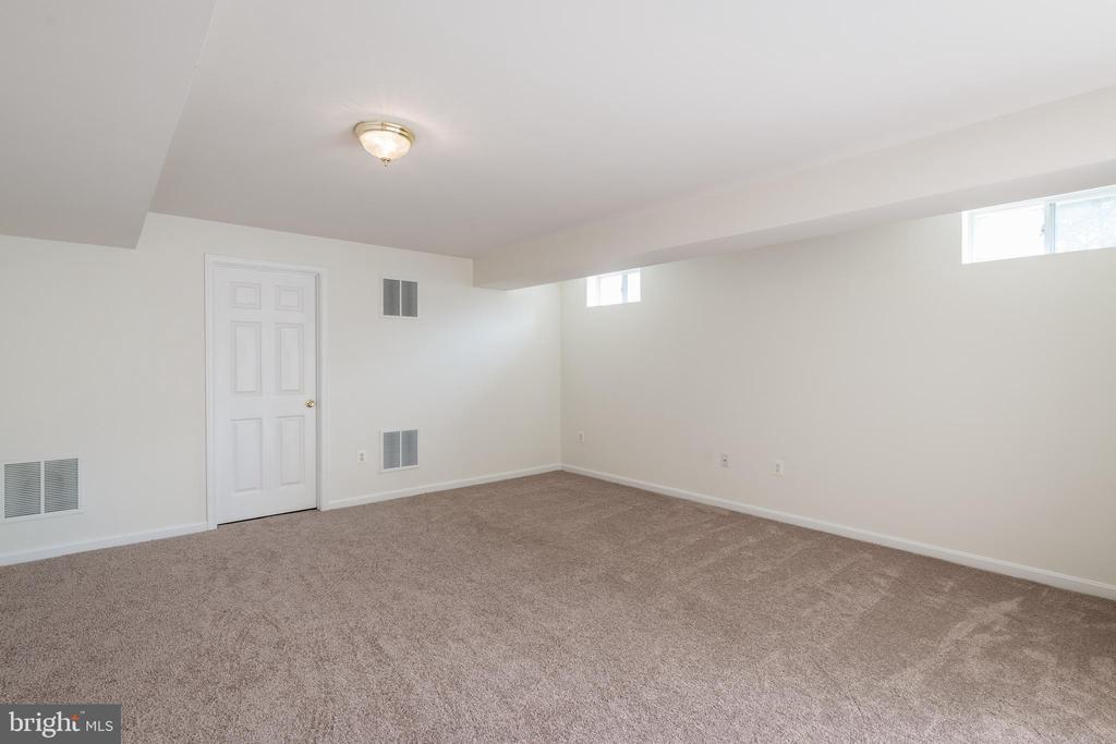 Lots of Space  in this Finished Lower Level Room - 10905 HOWITZER DR, FREDERICKSBURG