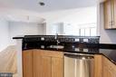 Kitchen overlooking living area - 2220 FAIRFAX DR #708, ARLINGTON
