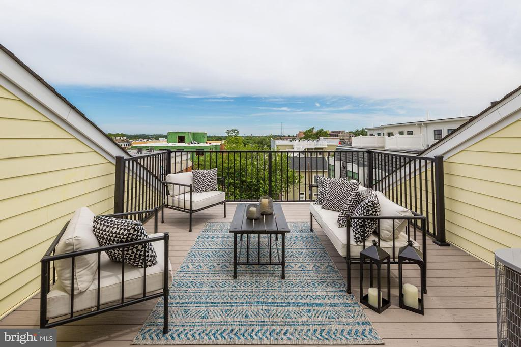 Private Rooftop Deck - 779 MORTON ST NW #B, WASHINGTON