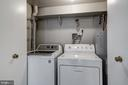 Washer and dryer in basement den - 2817-D S WOODROW ST #124-8, ARLINGTON