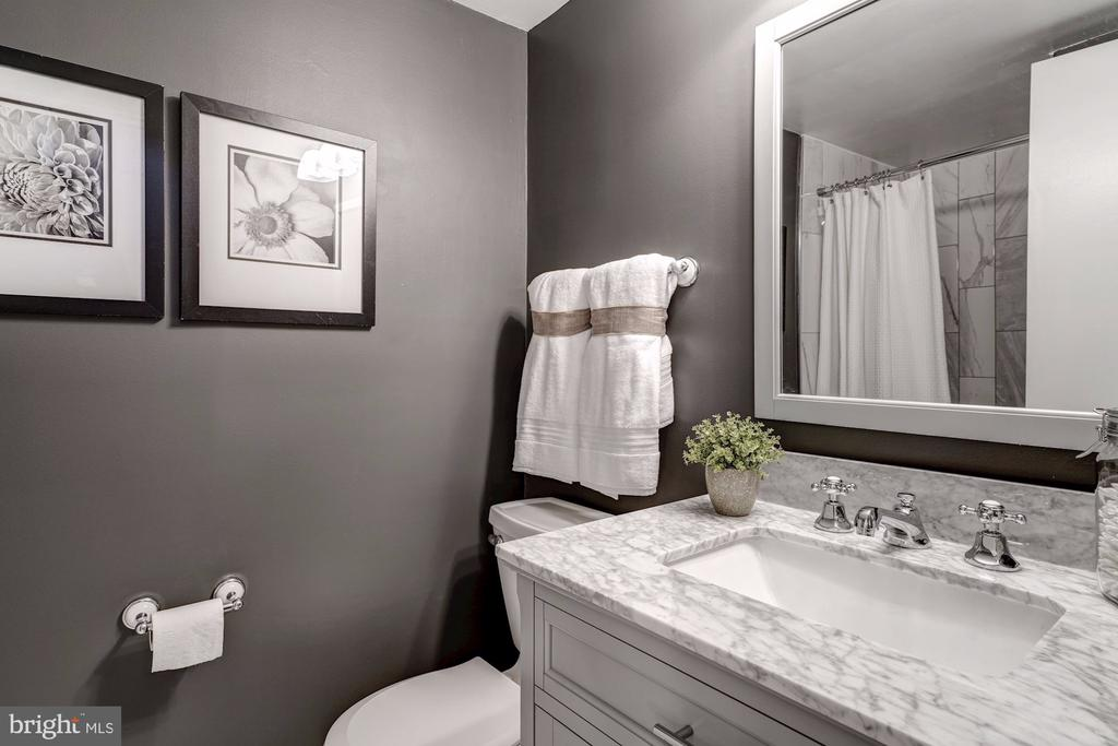 Updated bathroom in basement - 2817-D S WOODROW ST #124-8, ARLINGTON