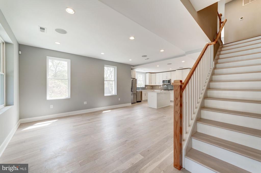 Open Kitchen with tons of light - 2620 6TH ST NE, WASHINGTON