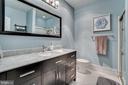 Renovated master bath - 5916 BARBADOS PL #56, ROCKVILLE