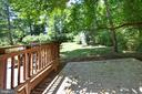 Stamped concrete patio off of deck - 348 OAK TREE LN, STERLING