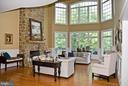 Great Room with soaring ceilings - 20280 GILESWOOD FARM LN, PURCELLVILLE