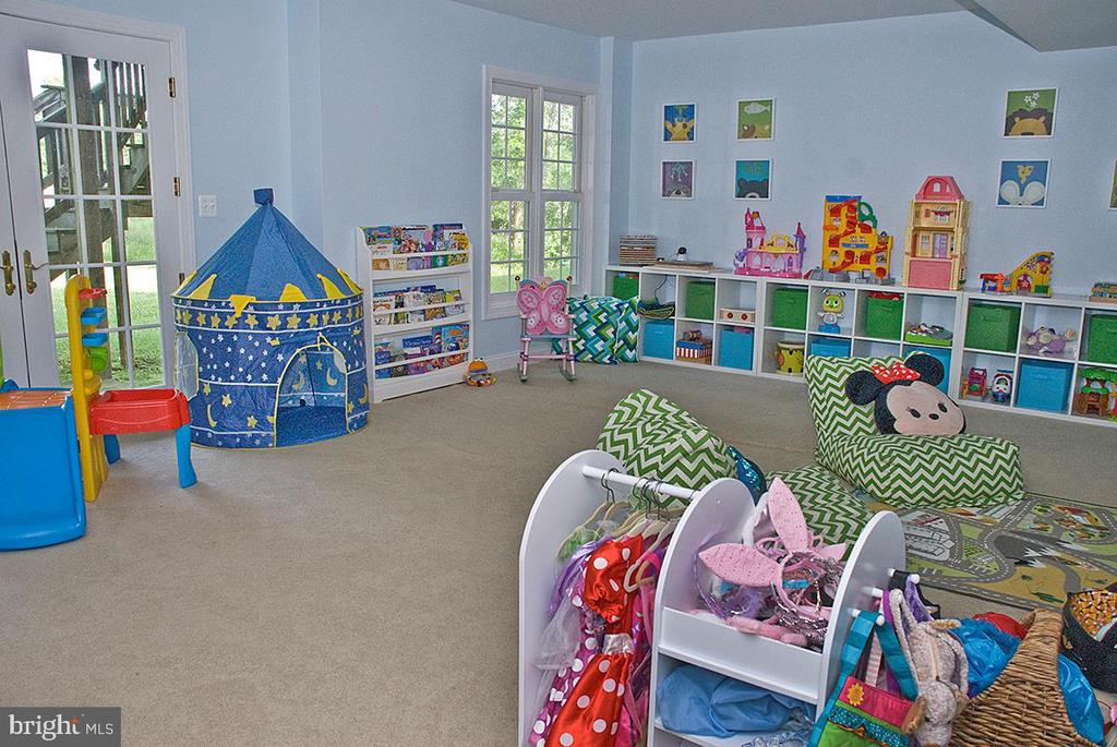 Play room or Guest Room on Walk out Level - 20280 GILESWOOD FARM LN, PURCELLVILLE