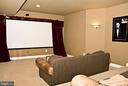 Media Room on Walk out Level - 20280 GILESWOOD FARM LN, PURCELLVILLE