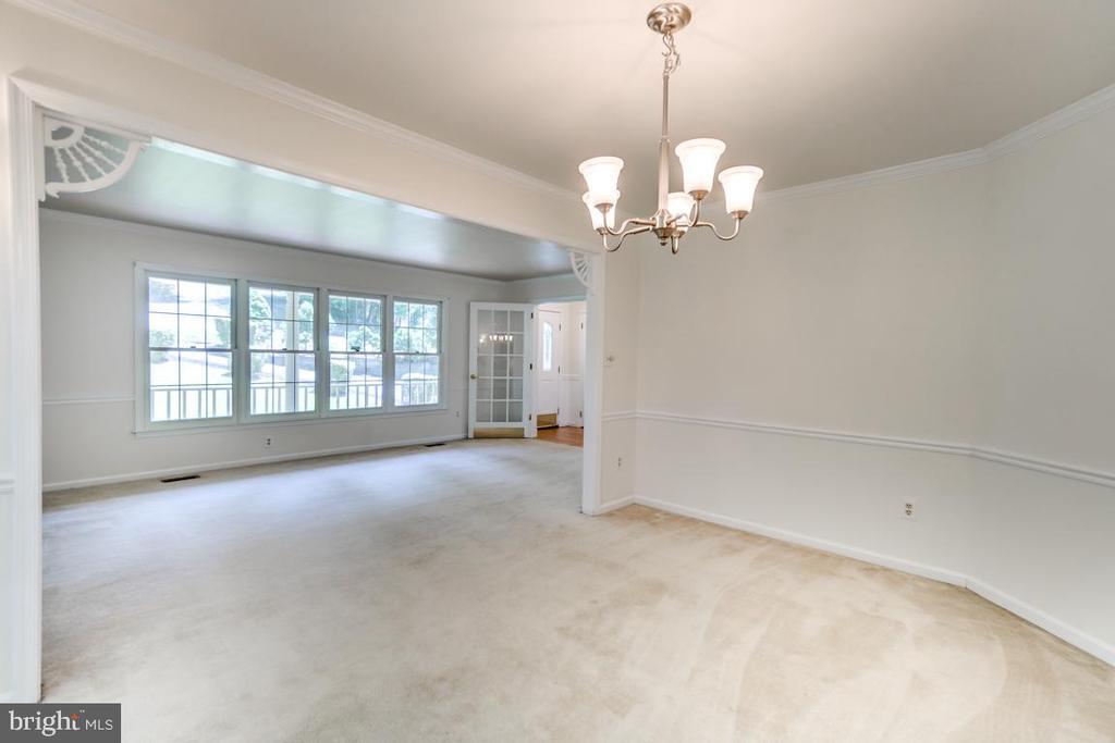 Formal Dining Room with Chair Rail & Bay Window - 2235 AQUIA DR, STAFFORD