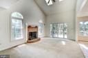 2 Story Family Room with Brick Fireplace - 2235 AQUIA DR, STAFFORD