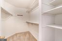 Master Closet with Custom Shelving - 2235 AQUIA DR, STAFFORD
