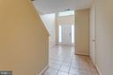 Inviting Tiled Foyer - 5185 BALLYCASTLE CIR, ALEXANDRIA