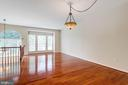 Gleaming Hardwood Floors in the Living Room - 5185 BALLYCASTLE CIR, ALEXANDRIA