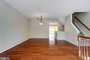 Gleaming Hardwood Floors in the Dining Room - 5185 BALLYCASTLE CIR, ALEXANDRIA