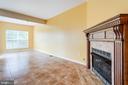 Gas Fireplace in Family Room - 5185 BALLYCASTLE CIR, ALEXANDRIA