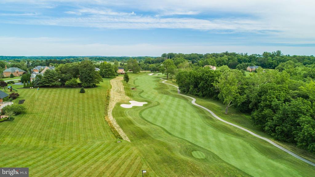 View of Golf Course from Property Aerial - 3627 BROADLEAF CT, GLENWOOD