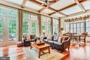 Family Room/Breakfast Room w/walls of windows - 18192 SHINNIECOCK HILLS PL, LEESBURG