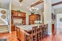 Center Island w/seating - 18192 SHINNIECOCK HILLS PL, LEESBURG