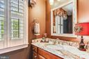 Formal Powder Room - 18192 SHINNIECOCK HILLS PL, LEESBURG