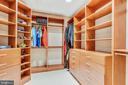 Master Closet - 18192 SHINNIECOCK HILLS PL, LEESBURG