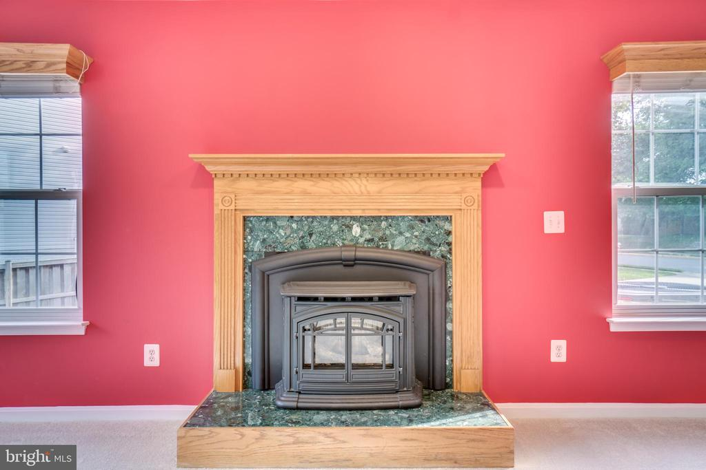 Pellet Stove in Family Room - 700 WOODEN BRIDGE DR, PURCELLVILLE