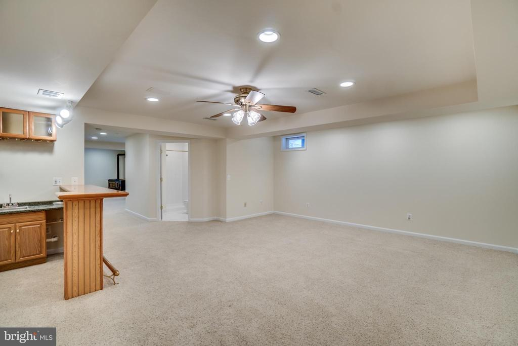 Basement Rec Area w/wet bar - 700 WOODEN BRIDGE DR, PURCELLVILLE