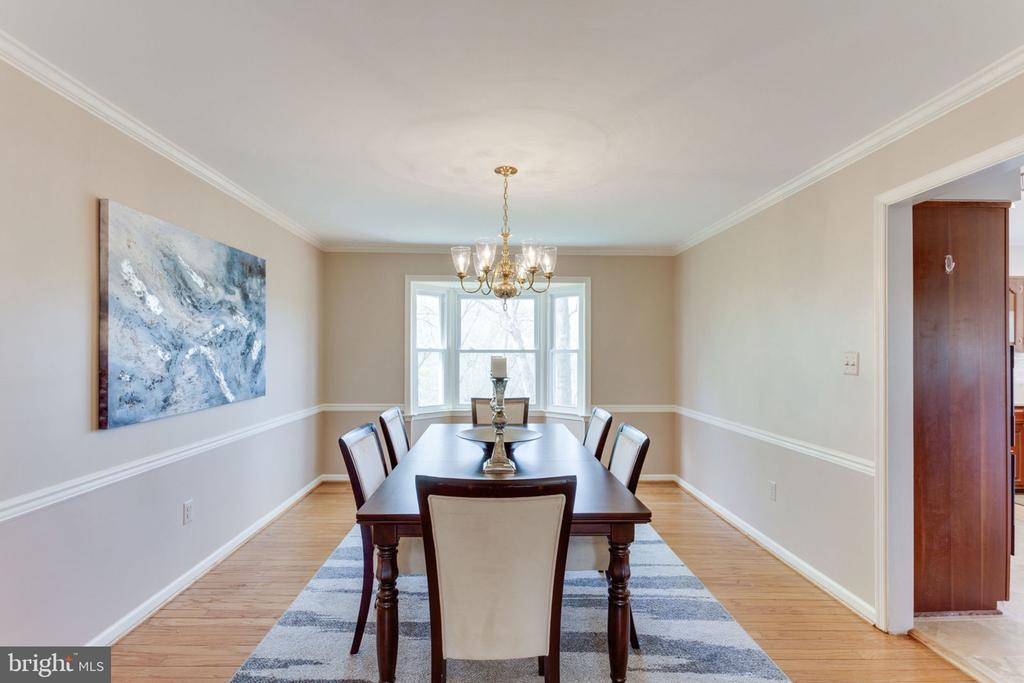 Dining room with a view of parkland - 9815 WINTERCRESS CT, VIENNA