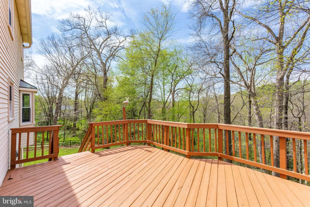 Huge deck with stairs to the lower patio - 9815 WINTERCRESS CT, VIENNA