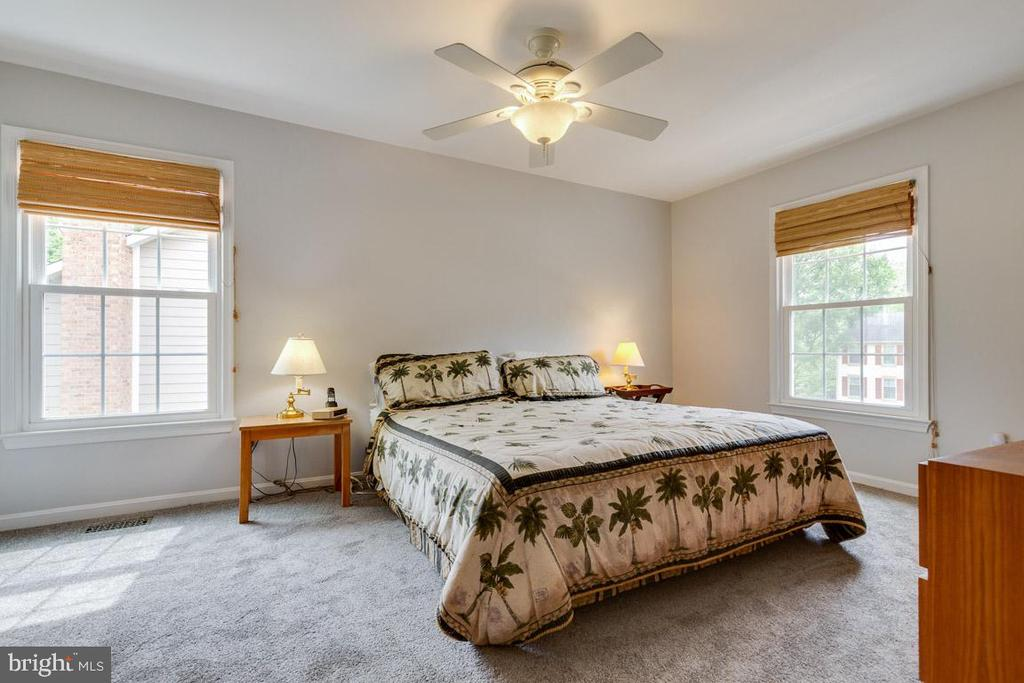 Spacious Master with ceiling fan - 6203 GENTLE LN, ALEXANDRIA