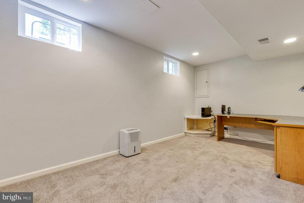 Basement office or rec room - so light! - 6203 GENTLE LN, ALEXANDRIA