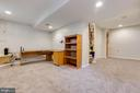 Built in bookshelves and wine rack - 6203 GENTLE LN, ALEXANDRIA