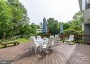 20x24 wood deck - gorgeous backyard! - 6203 GENTLE LN, ALEXANDRIA