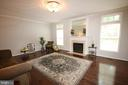 Family room has gas fireplace - 47429 RIVER FALLS DR, STERLING