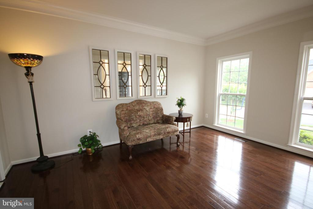 Living room has floor-to-ceiling windows - 47429 RIVER FALLS DR, STERLING