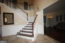Tile floor in foyer for easy maintenance - 47429 RIVER FALLS DR, STERLING