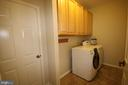 Main level laundry - 47429 RIVER FALLS DR, STERLING