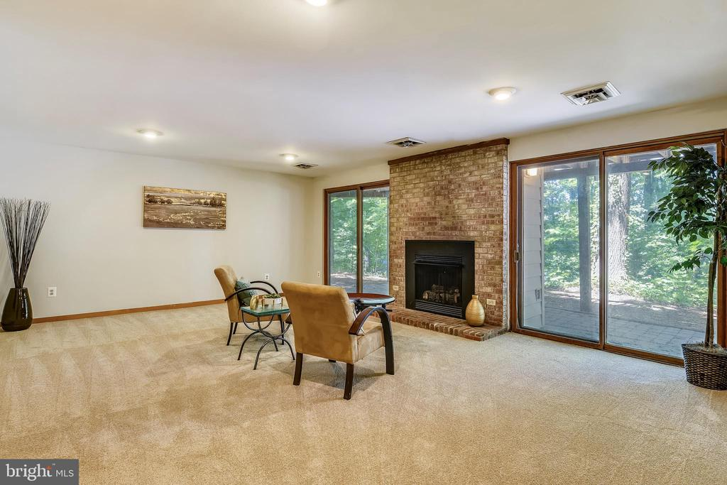 Two sliding glass doors open out into the back - 15795 FAWN PL, DUMFRIES
