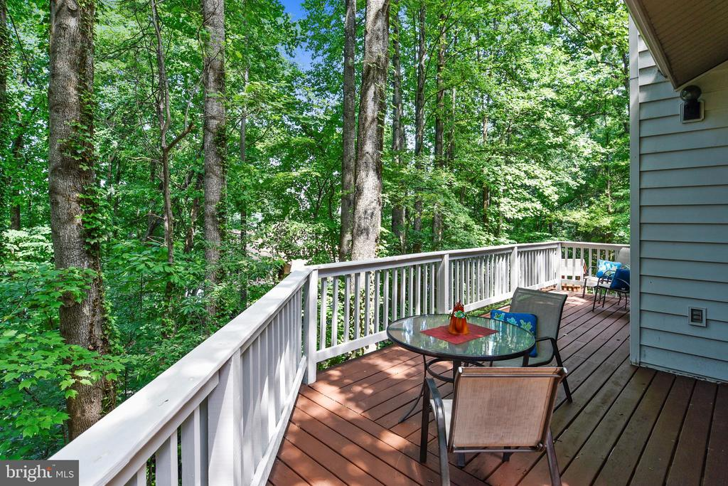 Walk out from living room onto the deck! - 15795 FAWN PL, DUMFRIES