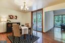 Open concept throughout. Dining area with a view! - 15795 FAWN PL, DUMFRIES