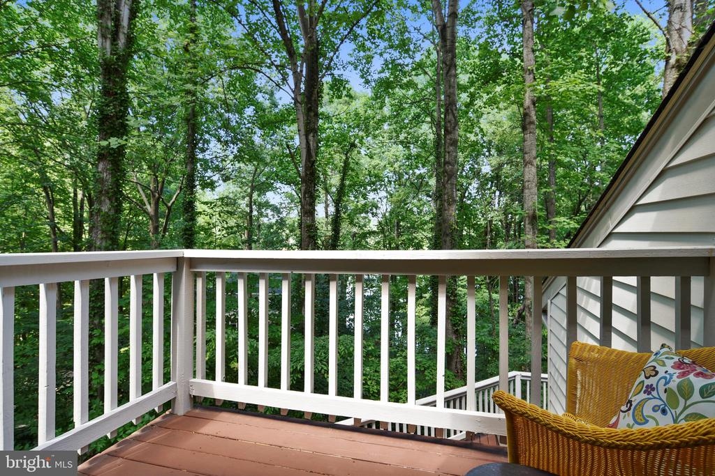 Balcony off Master bedroom-enjoy your morning here - 15795 FAWN PL, DUMFRIES