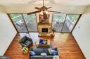 Look down on the living room from the walkway - 15795 FAWN PL, DUMFRIES