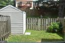 Storage shed in the backyard - 12243 GRANADA WAY, WOODBRIDGE