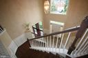 View of foyer from upper level - 47429 RIVER FALLS DR, STERLING