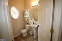 Main level powder room for guests - 47429 RIVER FALLS DR, STERLING