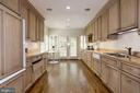 Kitchen with French doors leading to Garden - 4649 GARFIELD ST NW, WASHINGTON