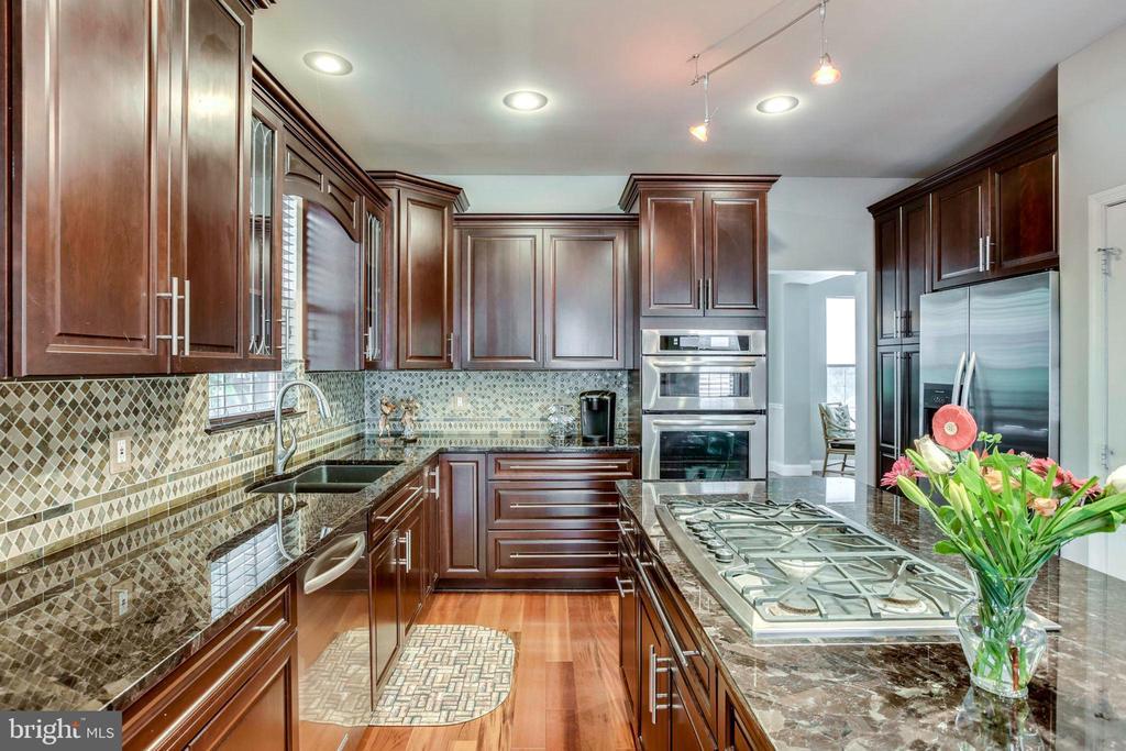 Marron Cohiba granite counters - 43221 DARKWOODS ST, CHANTILLY