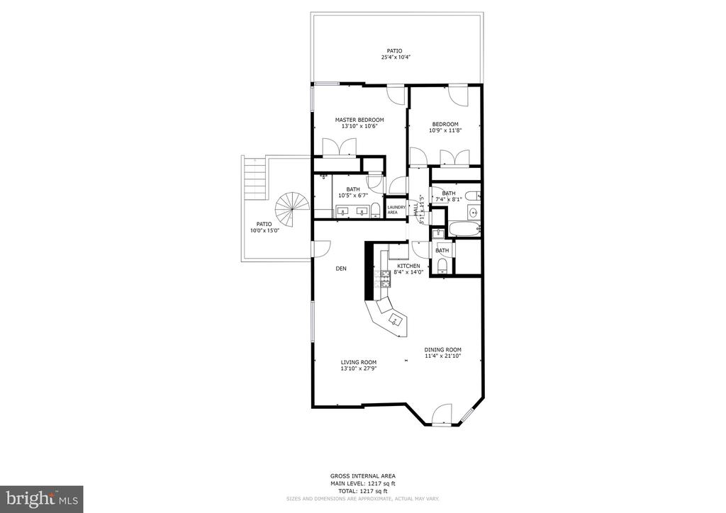 Floorplan - 1352 QUINCY ST NW #1, WASHINGTON